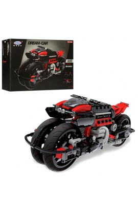 Конструктор XB03021 мотоцикл, 680 дет., кор., 42-29-7 см.