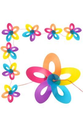 Вітрячок M 3720 розмір великий, діаметр 29 см., квітка 8 шт., мотузка 8 м., гірлянда, кул., 29-29-15