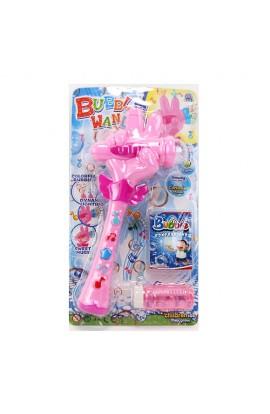 Мильні бульбашки 633-1 мікрофон, запаска, 2 кольори, світло, муз., бат., лист, 20-37,5-5 см.