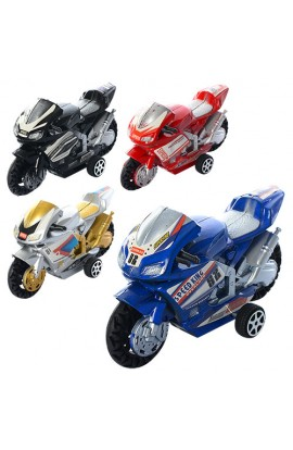 Мотоцикл 66-1 інерц., 4 види, кул., 9,5-5,5-3,5 см.
