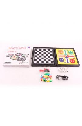 Настільна гра R9204 5 в 1 (шашки, шахи, міні-шахи, куточки, лудо), кор., 16,5-15-3 см.