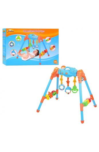 Тренажер дитячий 0816 NL 3 підвіски, кубики, муз., світло, бат., кор., 53-37-10 см