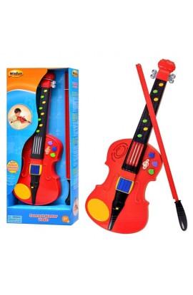 Скрипка 2050 NL 8 кнопок, 3 режими, 7 мелодій, світло, бат., кор., 50-22-6 см