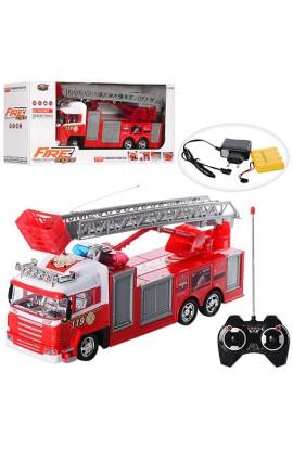Пожежна машина 666-117А радіокер., акум., муз., світло, гумові колеса, кор., 43,5-18,5-12 см .