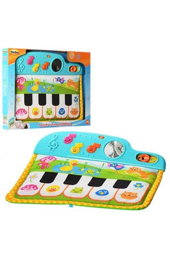 Піаніно 0217 NL кріпиться до ліжечка, 3 режими, муз., світло, бат., кор., 46-35-4 см
