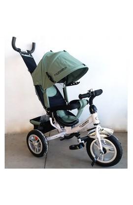 Велосипед M 3113A-17 3 гум. колеса (12/10), колясочний, вільний хід кол., гальмо, підшипники, хакі.