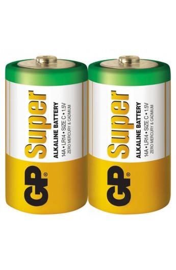 Батарейка GP SUPER ALKALINE 1.5V 14A-S2, LR14,C