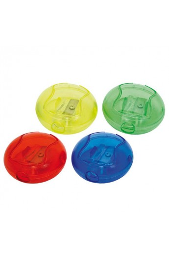 Точилка цветная  Круглая  с контейнером, длина лезвия 2.3см new