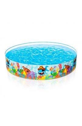 Басейн 56453 каркасний дитячий, сонячні рибки, 244-46 см