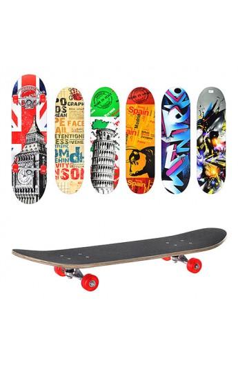 Скейт MS 0321 6 видів, алюм. підвіска, розібр., 78-20 см