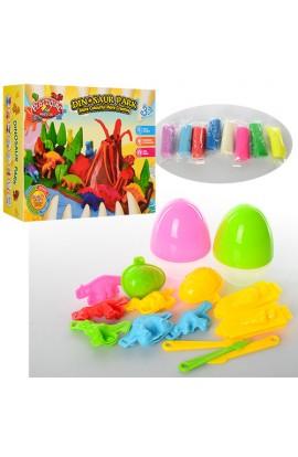 Пластилін MK 0664 парк динозаврів, 15 предметів, 8 кольорів, кор., 31-23,5-8 см