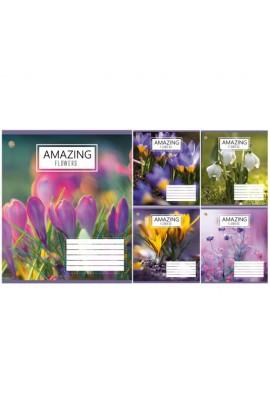 А5/48 кл. ЗУ Amazing Flowers-17 тетрадь ученич.