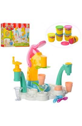 Пластилін MK 0135 морозиво, 6 кольорів, морозивниця, посуд, кор., 40,5-30,5-8,5 см