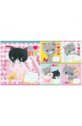 А5/12 лин. 1В Little Meow Love -17 тетрадь ученич.