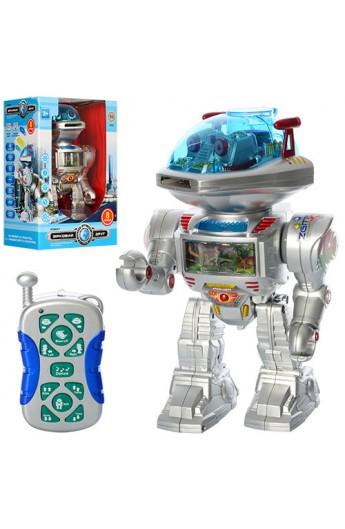 Робот 0908 радіокер., стріляє дисками, муз., світло, бат., кор., 32 см