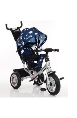Велосипед M 3113A-S11 3 гум. кол. (12/10), колясочний, вільний хід, гальмо, підшип., темно-синій.