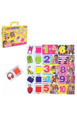 "Пазл магнитный развивающий А4  ""Funny science ""  ""Barbie 1 """