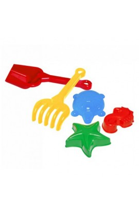 Іграшка набір  Лопатка+ грабельки Б+3 пасочки ТехноК