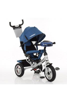 Велосипед M 3115HAJ-10 три гум.кол. (12/10), вільний хід колес, гальмо, муз., світло, джинс, ніжно-р