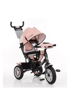 Велосипед M 3115HAL-10 три гум. колеса (12/10) колясочний, вільний хід колес, світло, муз., шкіра, н