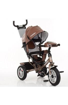 Велосипед M 3115HAL-13 три гум. колеса (12/10) колясочний, вільний хід колес, світло, муз., шкіра, ш