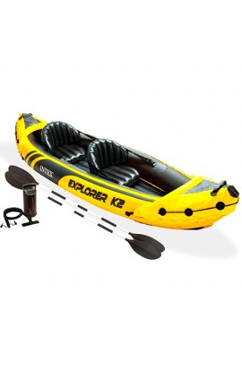 Човен EXPLORER-K2 KAYAK 68307  2 чол., насос, весла, 312-91-51 см.