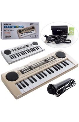 Синтезатор BF-430D4 37 клавіш, мікрофон, 8 тонів, МРЗ, USB, від мережі/бат., кор., 43-17-6 см.
