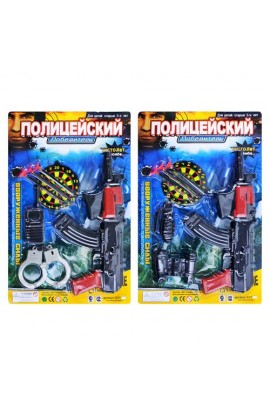 Набір поліції ZY E 01 AK 6-7 автомат, пістолет на присоск., мішень, лист, 28,5 см