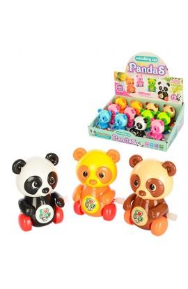 Заводна іграшка 6626 панда, їздить, рухає головою, лапками, 12 шт. (6 кольорів) в диспл., 28-20-9 см