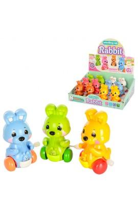 Заводна іграшка 6627 зайчик, їздить, рухає головою, лапками, 12 шт. (6 кольорів) в диспл., 27,5-21-9