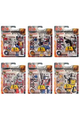 Конструктор 6633 фігурка - трансформер, 6 видів, лист, 16,5-21-3,5 см