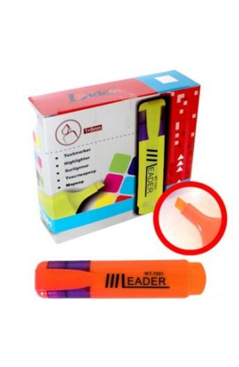 Маркер текстовий, LR-7001 оранжевий Leader