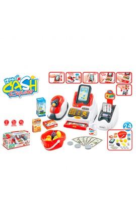 Касовий апарат 668-48 сканер, продукти, кошик, муз., світло, бат., кор., 43,5-21-17см.