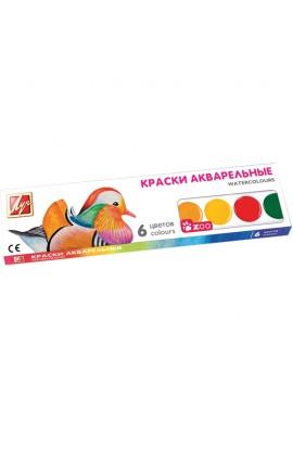 """Акварель  """"Зоо """"( """"Міні """") 6 кол. мед. б/к к/к 19С1246-08"""