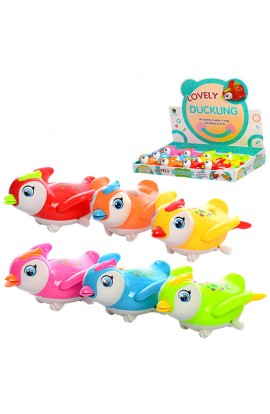 Заводна іграшка 821 папуга, 12 шт. (6 кольорів) в диспл., 41-33-7 см.
