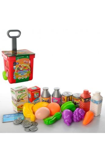 Візок 661-92 супермаркет, продукти, 24 предмета, 19-13,5-36 см.