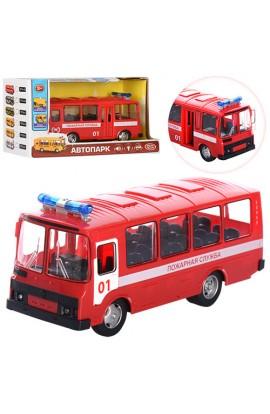 Автобус 9714A інерц., двері відчин., муз., світло, бат. (таб.), кор., 24-9,5-13,5 см.