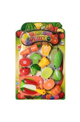 Продукти 615B липучка, овочі, дощечка, ніж, лист, 28-43-4см.