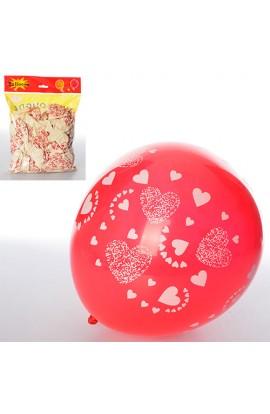 """Кульки надувні MK 1040 12 """", 2 кольори, 100 шт. кул., 20-25-2 см."""