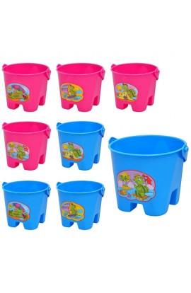 Набір для пісочниці 5068 відерце,  4 види, 2 кольори, 14,5-12,5-10 см