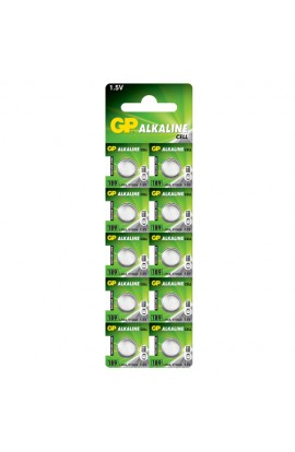 Батарейка GP Alkaline button cell . 1.5V 189-U10 год. лужна AG10, LR54