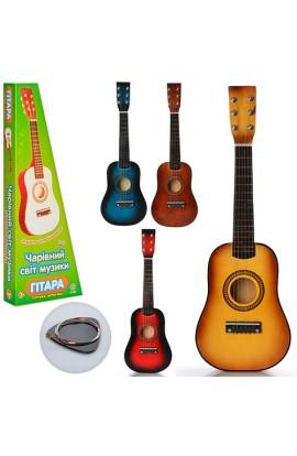 Гітара M 1369 струни, запасна струна, медіатор, 4 кольори, 59-21-7см
