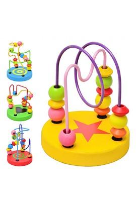 Дерев'яна іграшка MD 0489 Лабіринт на дроті, 4 види, кул., 10см