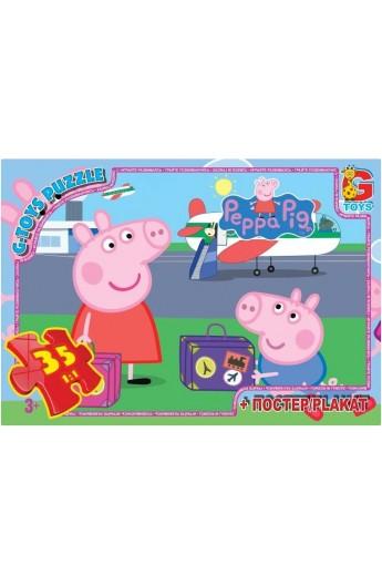 """Пазли  із серії """"Свинка Пеппа"""", 35 елементів PP006 ТМ """"G-Toys"""""""