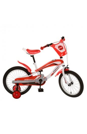 """Велосипед PROFI дитячий 16"""" SX16-01-2 червоний, дзвінок, приставні колеса, кор., 72-19-40 см"""