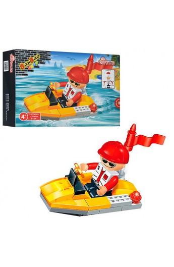 Конструктор BANBAO 8119 катер, фігурка, 19 дет., кор., 13-9-3,5 см