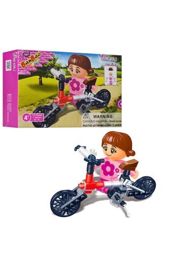 Конструктор BANBAO 8114 велосипед, фігурка, 19 дет., кор., 13-9-3,5 см