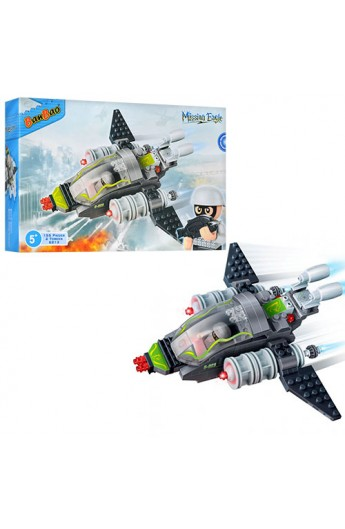 Конструктор BANBAO 6213 військовий літак, фігурки 2 шт., 155 дет., кор., 28-19-5,5 см
