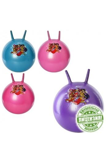 М'яч для фітнесу-45см WX 0077 з ріжками, WX, 4 кольори, 530 г, кул., 18-15-6 см