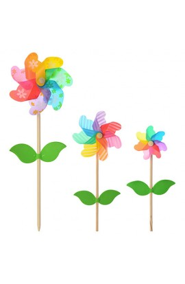 Вітрячок M 2425 квітка, ручка, кул., 40-16-6 см
